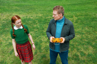 Daisy Axon and Richard Roxburgh.