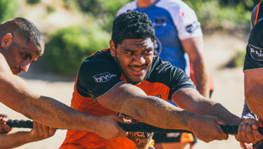 Next big thing?: Tigers debutant Thomas Mikaele.