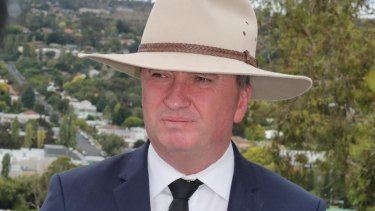 Barnaby Joyce resigns as leader of the Nationals and Deputy Prime Minister at a media conference in Armidale on Friday.