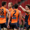 As it happened: GWS account for Geelong, Power thump Suns, Dons and Swans win thrillers