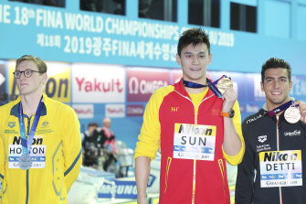 Australia's Mack Horton refuses to share the podium with Yang Sun at this year's swimming world championships in South Korea.