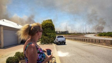 An out-of-control blaze forced Yanchep residents to evacuate their homes on Wednesday and Thursday.