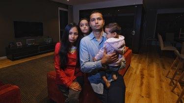 Jump franchisee Kuljeet Mathur with his wife, Nisha Yadav, and children Kimaya Mathur and Kaashi.