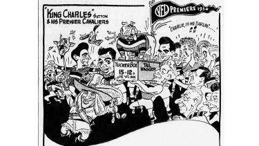 How Age sporting cartoonist Sam Wells saw the victory.