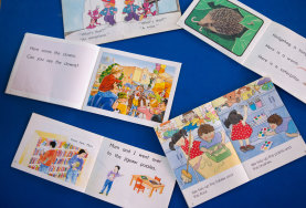 Predictable readers use repetition and pictures to help children read