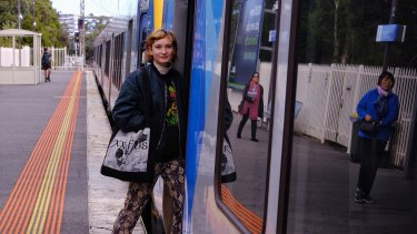 Alienor Renaux would be thrilled if trains turned up every 10 minutes on the Mernda line.