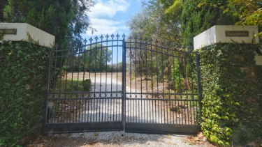The gates of Mowbray remain after a 1930s mansion was knocked down in Toorak.