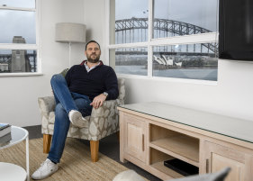 Gabriel Saranjinsky manages a number of holiday rentals across Sydney.