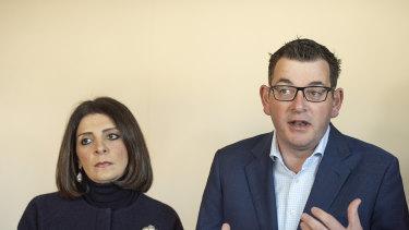 Gaming minister Marlene Kairouz and Premier Daniel Andrews last year.
