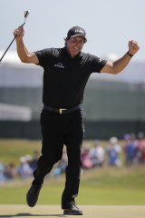 Mickelson on the 13th on the final day.