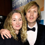 Beck and his now ex-wife actress Marissa Ribisi  celebrate 75 years of Capitol Records in 2016.
