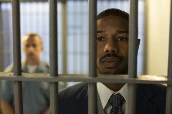 Michael B. Jordan as Bryan Stevenson, a Harvard law graduate, in Destin Daniel Cretton's Just Mercy.