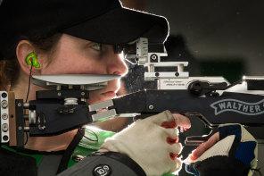 On target: shooter Ellise Collier.