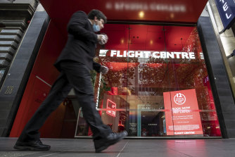 The cash is still burning but Flight Centre investors can see light on the horizon.