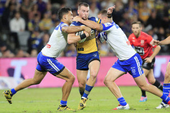 Parramatta captain Clint Gutherson is playing five kilos heavier than last year.