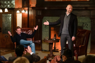 Damian Lewis and Corey Stoll in the new season of Billions.