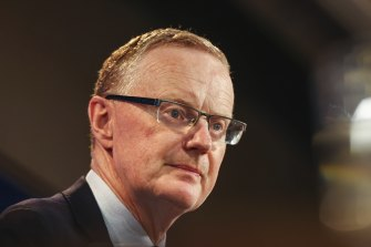 RBA governor Philip Lowe addresses the National Press Club in Canberra.