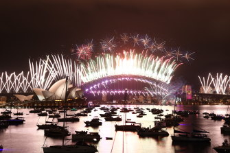 Last year's NYE fireworks were a scaled back affair at midnight only.