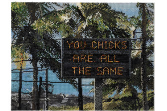 Michelle Hamer's 'You Chicks are all the Same' (2019) 51x66cm
