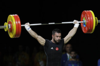 Failed a drug test: Daniyar Ismayilov of Turkey competing at the 2016 Rio Games.