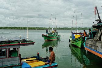 Way of life: fishermen in the Natuna Islands.