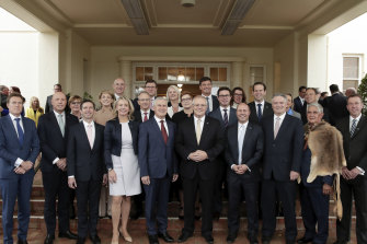 Prime Minister Scott Morrison with his cabinet in 2019.