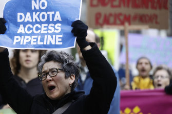 The Dakota Access pipeline sparked protests from 2016 onwards.