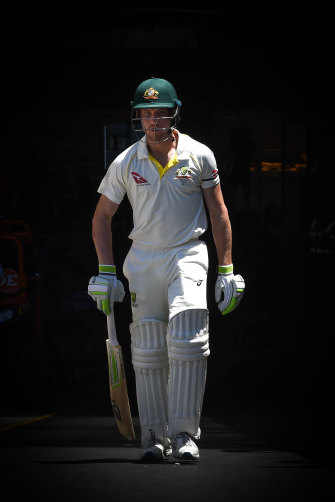 Out of the darkness: Cameron Bancroft.