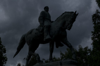 The Charlottesville statue of Confederate general Robert E. Lee.