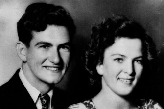 Bob Hawke and Hazel's engagement photo.