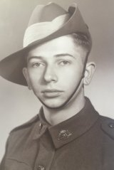 Gordon Maitland, a young soldier in World War Two.