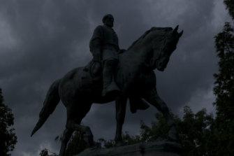 The Charlottesville statue of Confederate general Robert E. Lee.