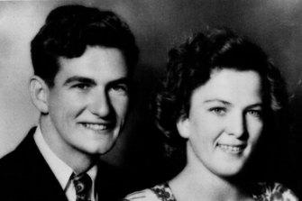 Bob Hawke and Hazel's engagement photo.