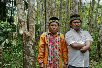 Jubaen and Menyu are elected cultural leaders, known as adat, of the Balik tribe.