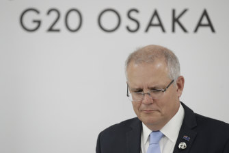 Scott Morrison declared it unlikely the G20 summit would resolve the trade dispute.