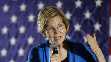 Democratic Senator Elizabeth Warren has risen in the polls in recent weeks.