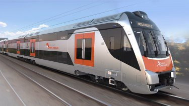 The first of the new intercity trains will arrive in NSW next year.