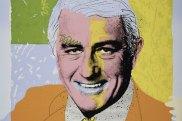 Paul Worstead's pop art style treatment of Neville Wran from 1976.
