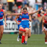 Clash of ex-teammates sums up Dogs' win over Melbourne