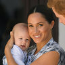 Megan, Duchess of Sussex and Prince Harry, Duke of Sussex, with their son Archie in South Africa in 2019.