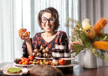 Alice Zavlasky and her Tumami condiment.