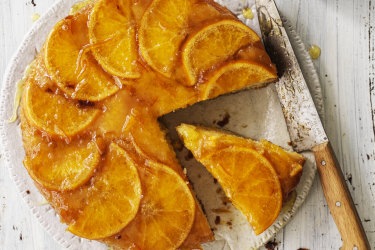 Andrew McConnell's warm orange and whisky cake.