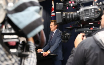 Attorney-General Christian Porter's Mach 3 press conference in Perth, where he strongly denied the allegations.