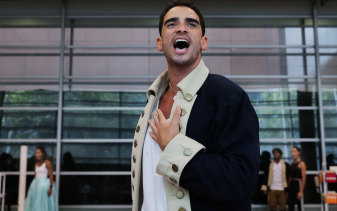 Wait for it: Lyndon Watts in rehearsal for Hamilton in Australia.