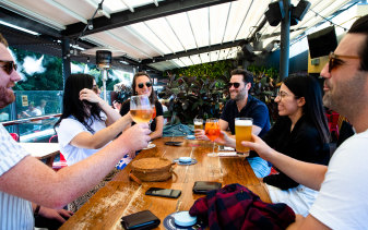NSW reported six new cases on Friday. The government is targeting The Rocks and Darling Harbour first in trying to loosen up outdoor hospitality regulations.