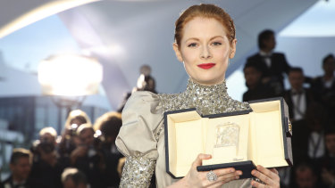 Best actress winner Emily Beecham.