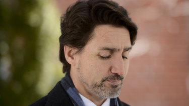 Prime Minister Justin Trudeau addresses Canadians on the COVID-19 pandemic from Rideau Cottage in Ottawa.