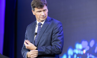 Energy Minister Angus Taylor at the Financial Review Energy and Climate Summit last week.