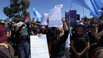The March 4 Justice rally in Canberra in March.