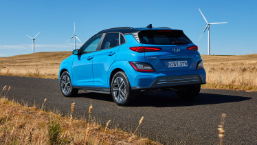 Hyundai's 2021 Kona Elite EV costs about $1400 per month to run including loans and servicing, according to the RACQ.